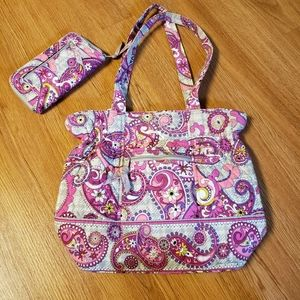 Vera Bradley Laura Shoulder Bag & Matching Wallet